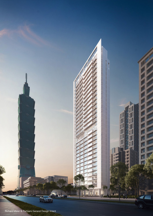 Richard Meier-Designed Skyscraper Underway in Taipei, © Vize.com; Courtesy Richard Meier & Partners Architects