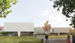Proposta finalista para o Museu Bauhaus faz uma ponte entre a cidade e o parque