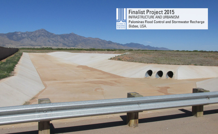 Finalista Infraestructura - Urbanismo - Palominas Flood Control and Stormwater Recharge. Image © Palominas Flood Control and Stormwater Recharge. Courtesy of CEMEX.