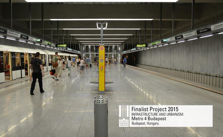 Finalista Infraestructura - Urbanismo- Metro 4 Budapest. Image © Metro 4. Courtesy of CEMEX.
