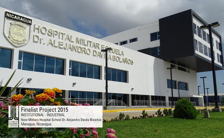 Finalista Institucional - Industrial  - New Military Hospital School Dr. Alejandro Dávila Bolaños. Image © Desarrollos Tecnología y Planeación, Promotora y Consultoría de Ingeniería S. A. de C.V. Courtesy of CEMEX.