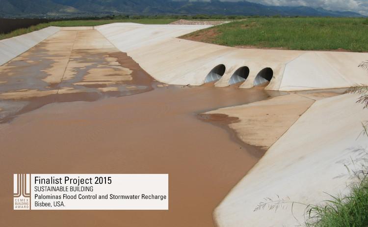 Finalista Construcción sustentable  - Palominas Flood Control and Stormwater Recharge. Image © Palominas Flood Control and Stormwater Recharge. Courtesy of CEMEX.