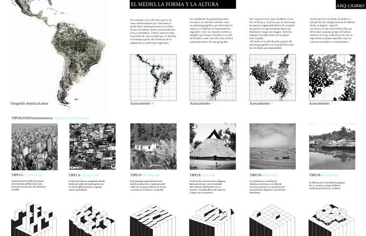 EL MEDIO, LA FORMA Y LA ALTURA por Laura Parra Mateo Agudelo, Benjamín Gomez, Paulina Chaparro