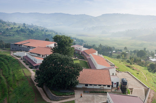 "Butaro Hospital. Image © Iwan Baan  MASS Design Group to Propose ""Bauhaus of Africa"" at UN Summit stringio"