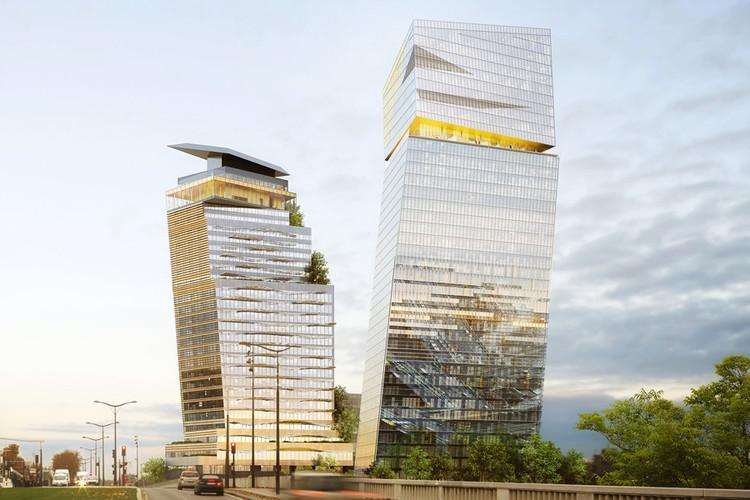 Jean Nouvel recibe aprobación para construir torres inclinadas en París, © Ateliers Jean Nouvel