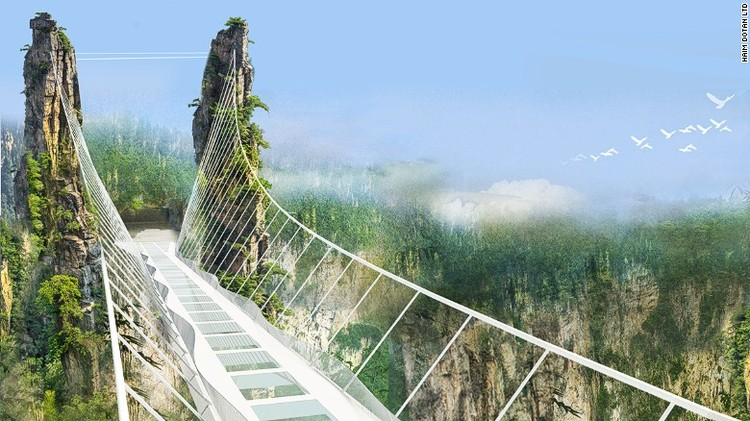 Zhangjiajie Bridge. Image © Ham Dotan Ltd via CNN