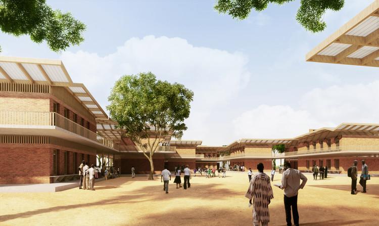 Escuela de educación secundaria. Imagen © Kéré Architecture