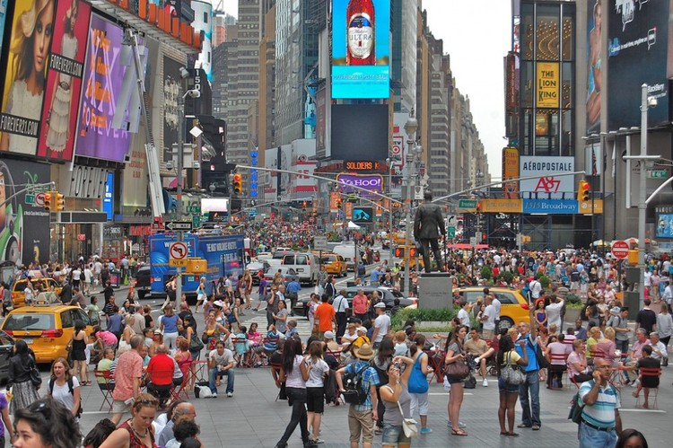 Times Square, Nueva York. Image © David McSpadden, vía Flickr