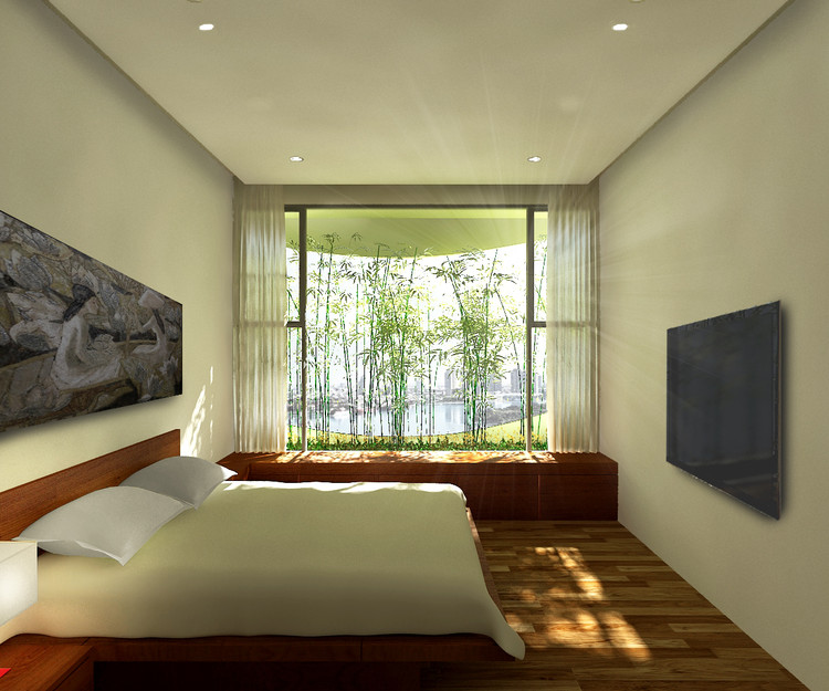 Interior Rendered View. Image Courtesy of Vo Trong Nghia Architects