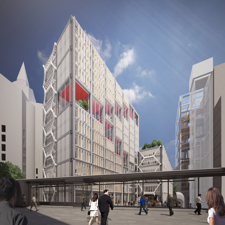 Call for Entries: LSE Launches Third Major Competition for £100m Facility, RSHP's winning scheme to redevelop part of the LSE campus. Image © RSHP
