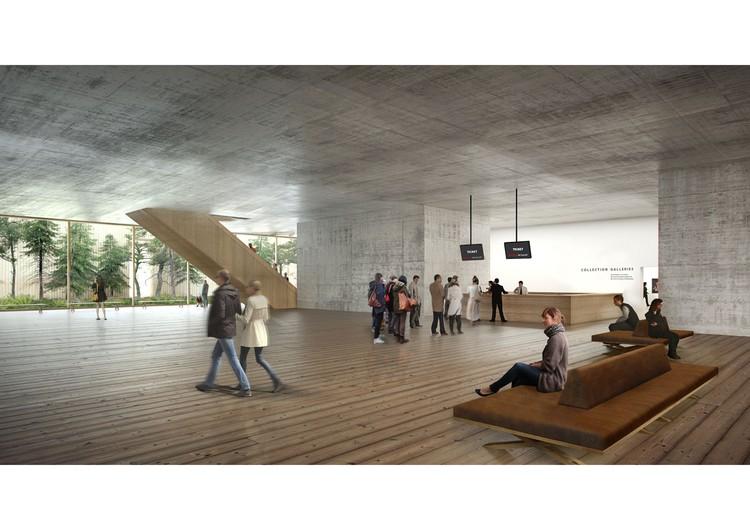 Vestíbulo Galería. Imagen © Herzog & de Meuron