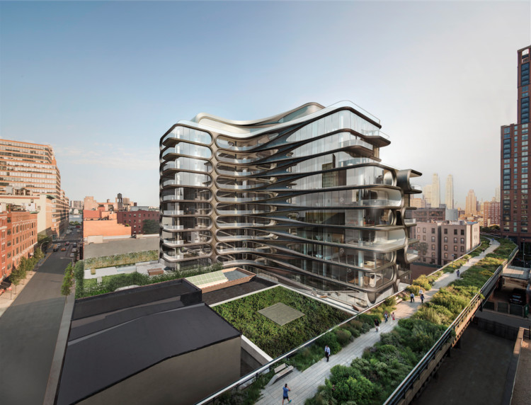 Zaha Hadid Releases New Image of New York Condominium Project Near High Line, © Hayes Davidson