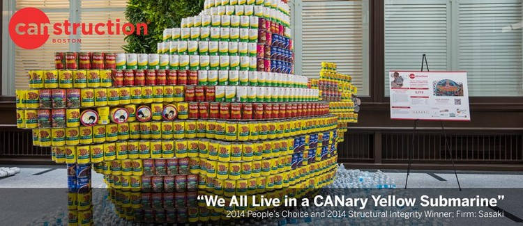 BSA Space Announces Canstruction 2015, Image: Canstruction 2013. Photo: Ian Yelich.