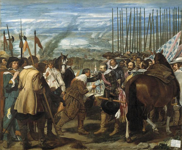 La Rendición de Breda de Diego Velázquez (1635). Imagen de dominio público.