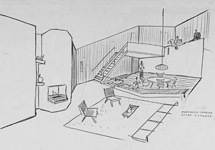 Figura 2. Conjunto Polo Club: perspectiva interior. Image © Fundación Rogelio Salmona