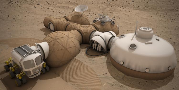 Propuesta tercer lugar: Team LavaHive. Imagen cortesía de NASA