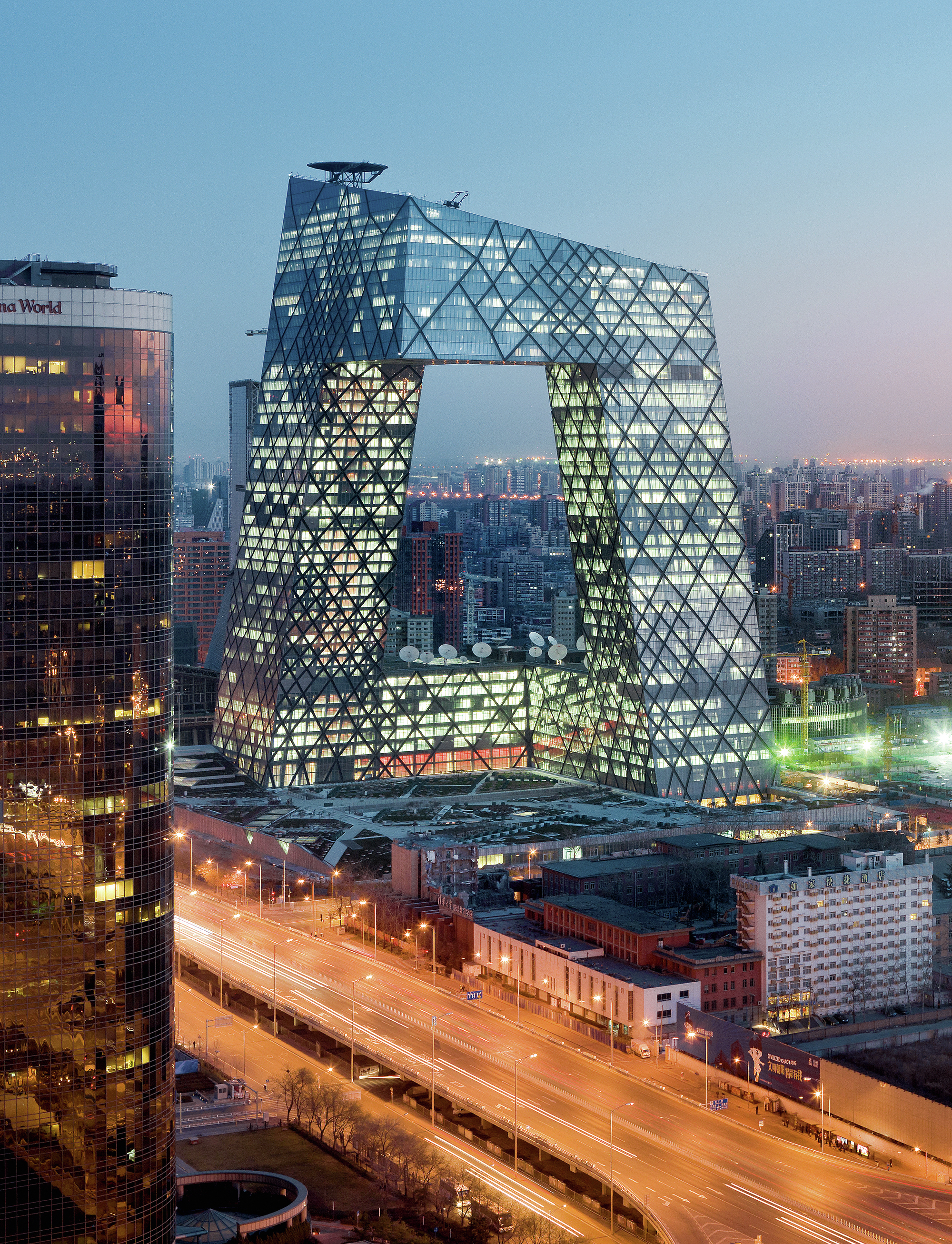 cctv television station and headquarters 2002 2012 beijing china iwan