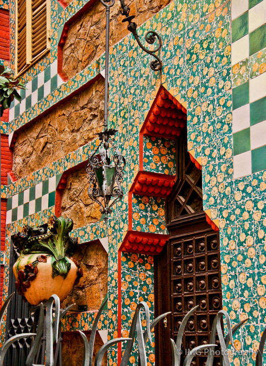 Detalle de la Casa Vicens. Image © Ian Gampon [Flickr CC]. Used under <a href='https://creativecommons.org/licenses/by-sa/2.0/'>Creative Commons</a>