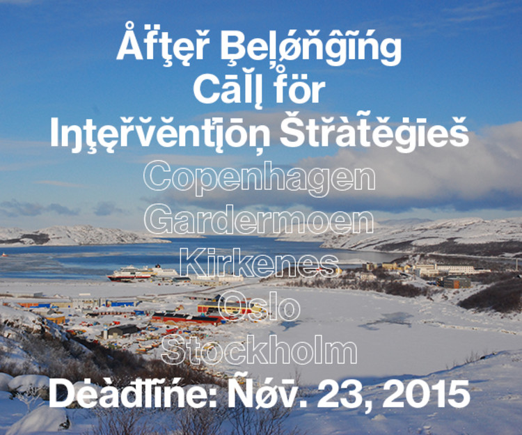 Call for Interventions: Oslo Architecture Triennale 2016—After Belonging