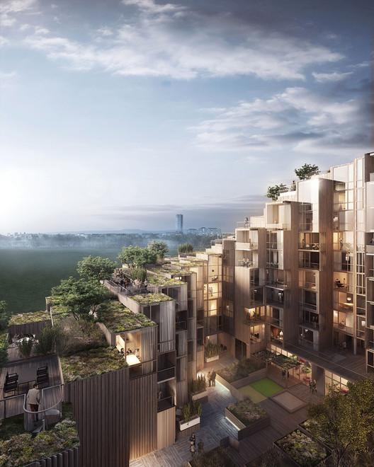 BIG Designs New Apartment Building in Stockholm, © Oscar Properties