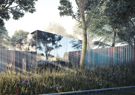 Amanda Levete's proposal for Southampton Maggie's Center. Image © AL_A
