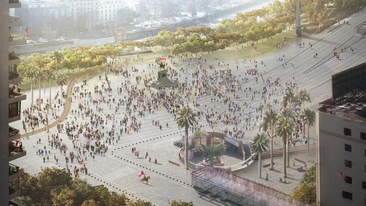 Lyon Bosch + Martic arquitectos y Groundlab ganan concurso internacional para rediseñar eje Alameda-Providencia, Plaza Italia y Plaza Baquedano. Image Cortesía de Nueva Alameda Providencia