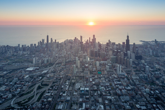 Imagem de Chicago do ensaio fotográfico de Iwan Baan. Imagem © Iwan Baan