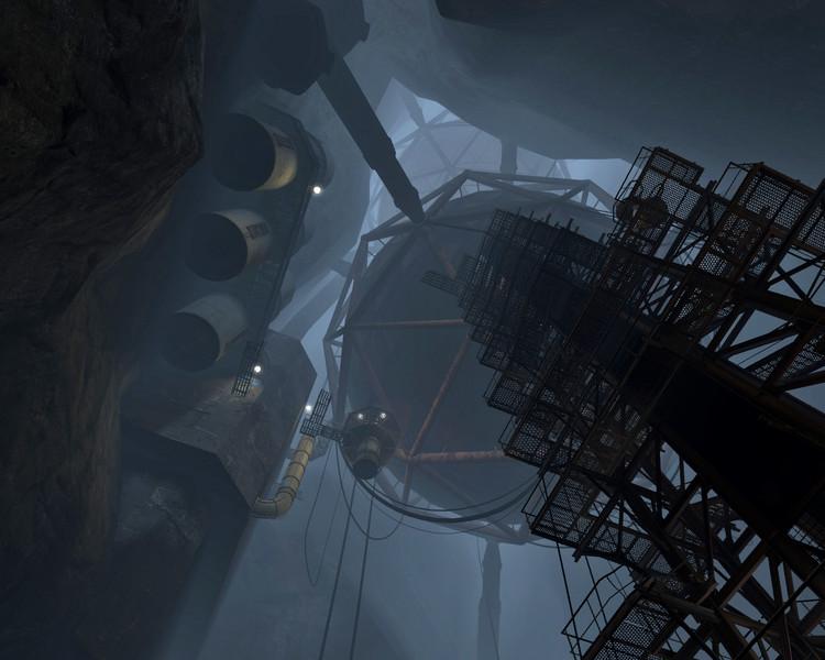Arquitectura y Videojuegos: los laberintos más allá del espacio tridimensional, Los silos geodésicos de 'Portal' que recuerdan el trabajo de Buckminster Füller. Image © Valve