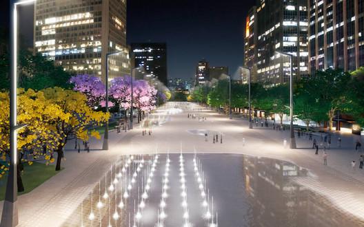Iluminação. Image via Prefeitura de São Paulo