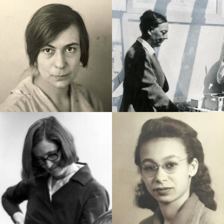 Pioneering Women in American Architecture, (clockwise from top left) Elsa Gidoni, Alice Constance Austin, Georgia Louise Harris Brown, Natalie Griffin de Blois. Courtesy Beverly Willis Architecture Foundation