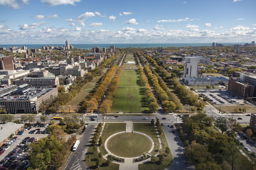 Midway Plaisance. Image © The University of Chicago; Photo by Tom Rossiter