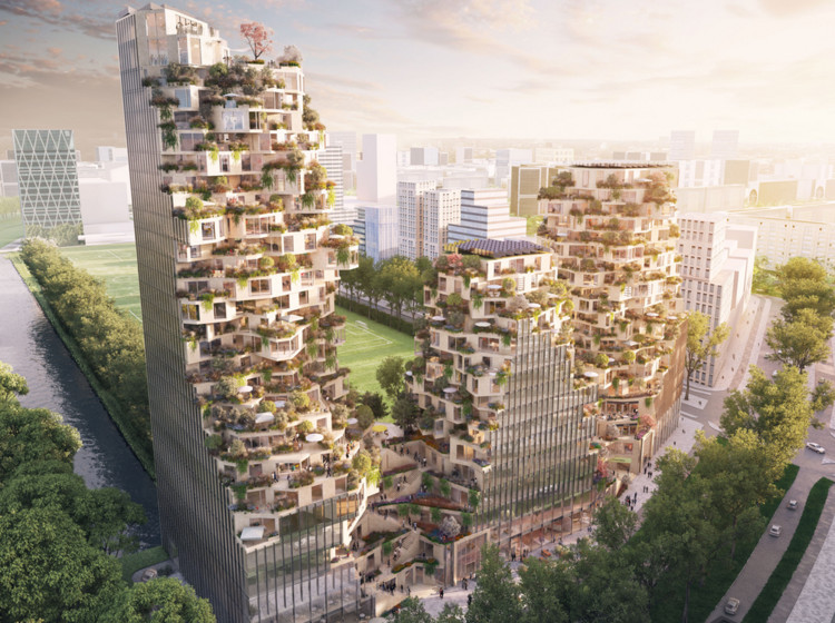MVRDV Designs 3-Tower Development for City of Amsterdam, © A2 Studio
