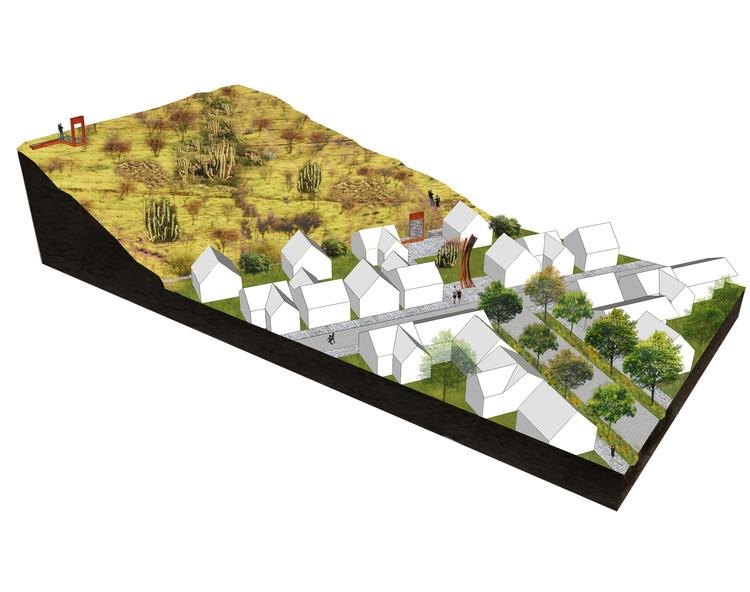 Borde del cerro: límite residencial. Image Cortesía de Santiago Cerros Isla