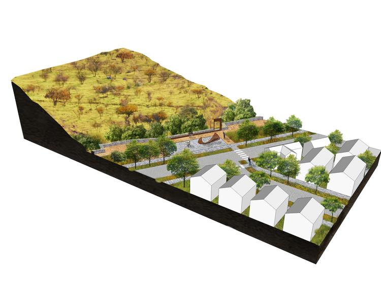 Borde del cerro: avenida Parque. Image Cortesía de Santiago Cerros Isla