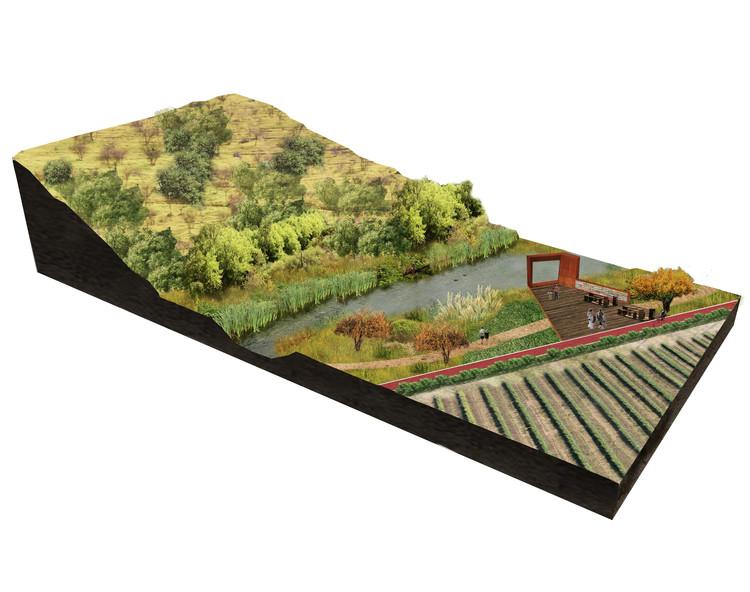 Borde del cerro: eco-corredor. Image Cortesía de Santiago Cerros Isla