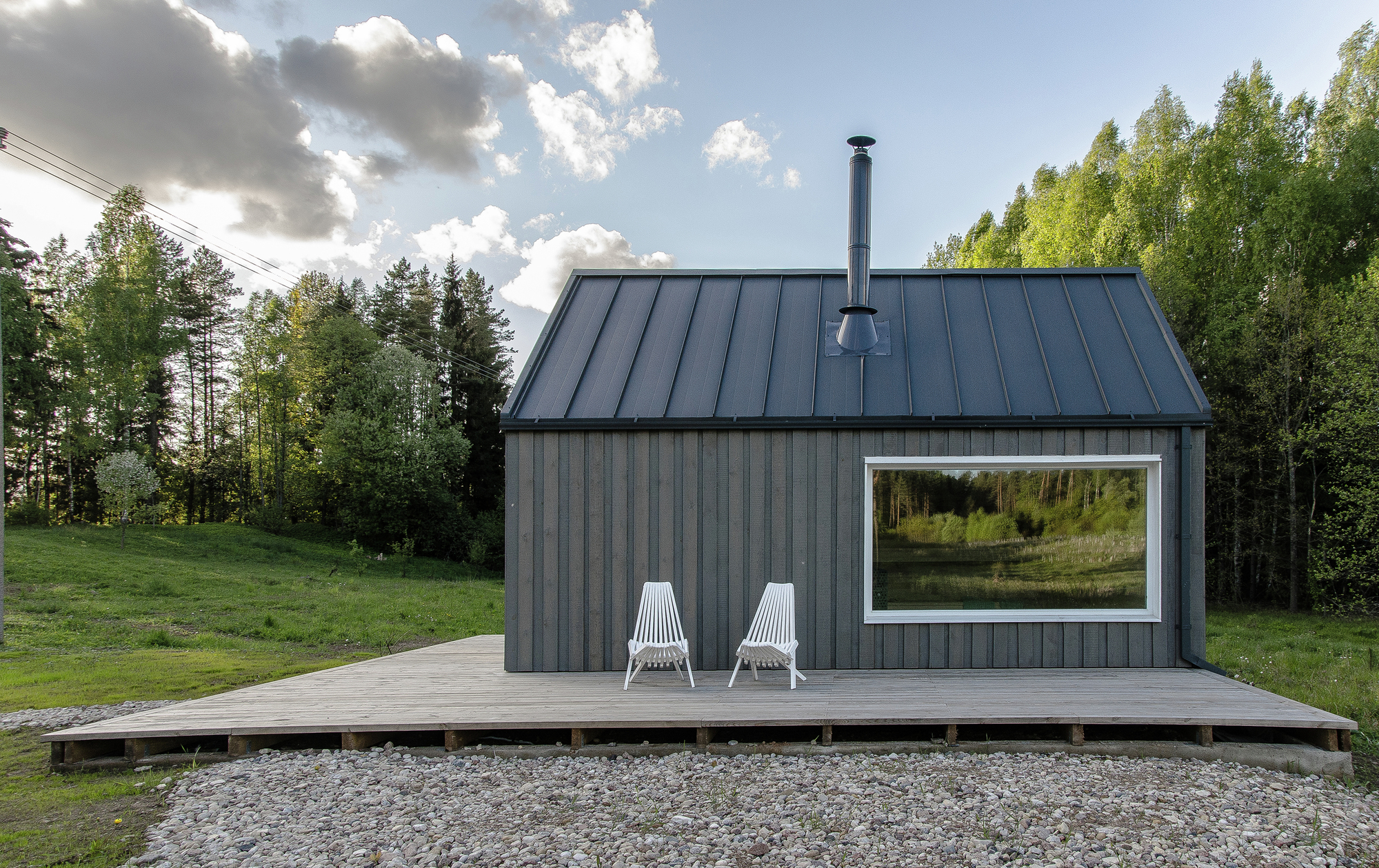 Lithuanian Hunting House Devyni Architektai Archdaily