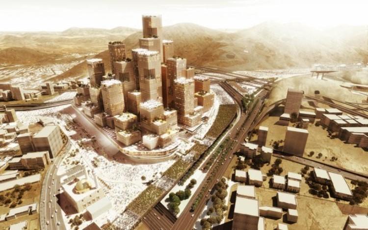 X-Architects vence concurso para projetar masterplan para Meca. Imagem © X-Architects