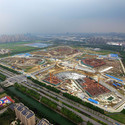 Aerial View of Construction. Image Courtesy of gmp Architekten