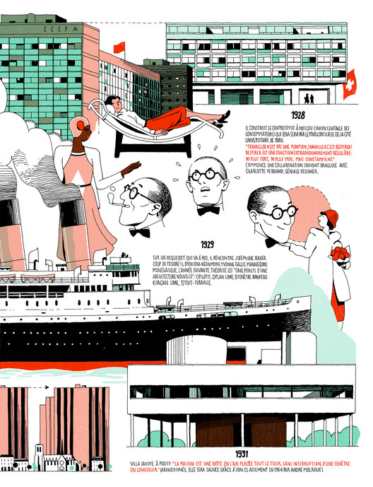 Infographic: The Life of Le Corbusier by Vincent Mahé, Courtesy of Vincent Mahé