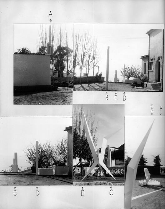 Trabajo estudiantil en la Escuela de Valparaíso, Curso del Espacio, Profesor Arturo Baeza, 1956. Cortesía del Archivo Histórico Jose Vial