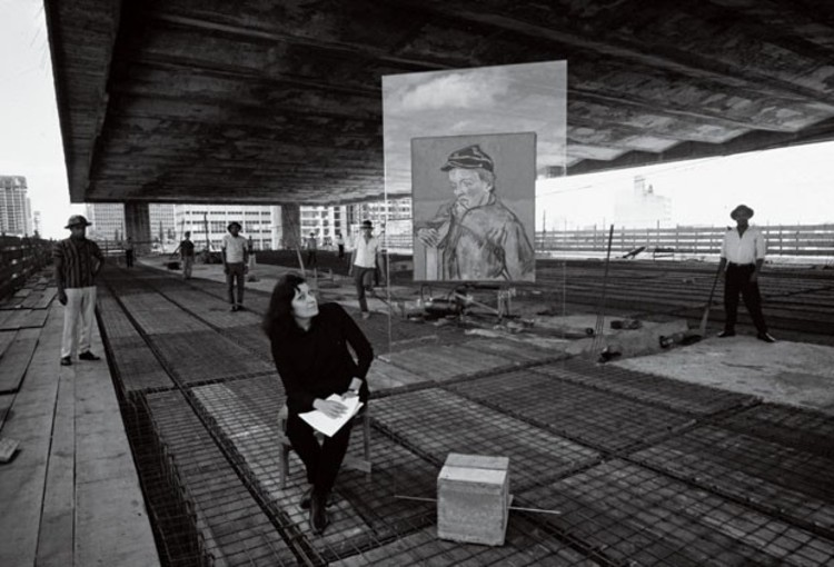 Radical Pedagogies: Lina Bo Bardi's Theory of an Immediate-Life-Architecture (1957), Lina at MASP under construction. Photo © Lew Parrela