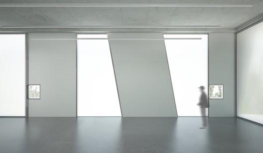Glassell School of Art Studio View. Image © Steven Holl Architects