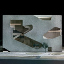 Model of Hunter's Point Community Library. Image © Steven Holl Architects