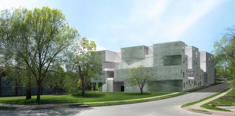 Visual Arts Building, University of Iowa. Image © Steven Holl Architects