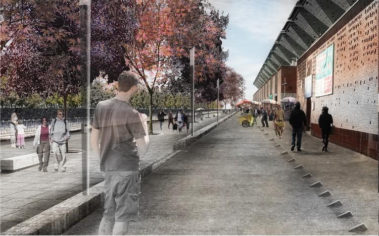 Propuesta Dupla. Image Cortesía de Municipalidad de Santiago