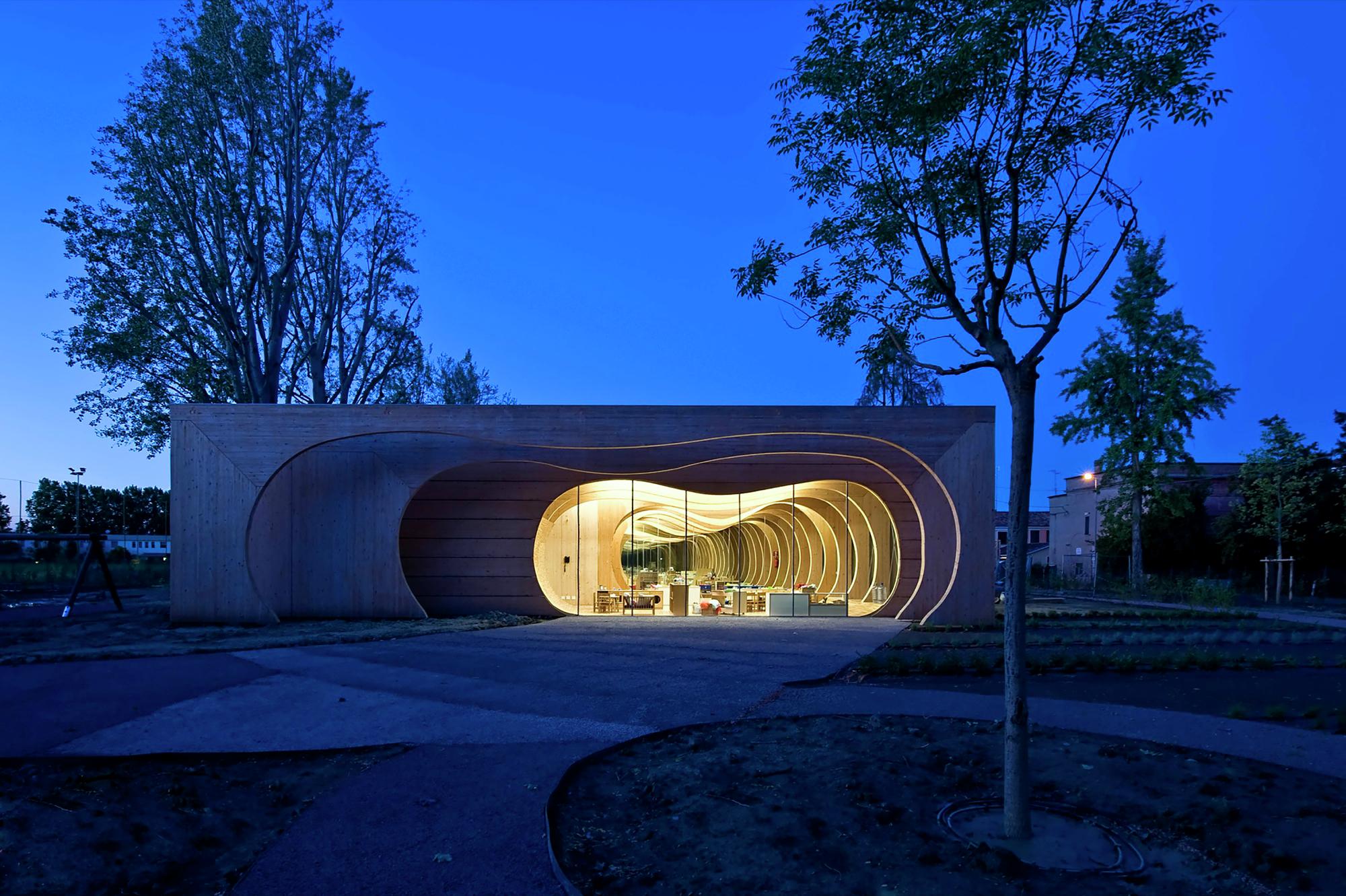 Gallery of kindergarten in guastalla mario cucinella for Cucinella architects