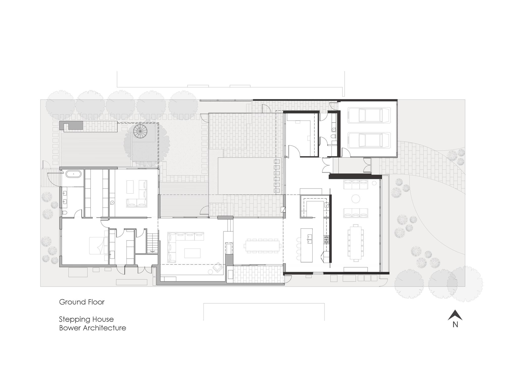 Galeria de casa escalonada bower architecture 19 for Stepped house plans