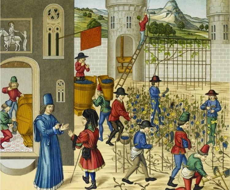 Trattato dell agricoltora (s.XV) Pier de Crescenzi, Maître de Marguerite d'york [Dominio público]. Image vía Wikimedia Commons