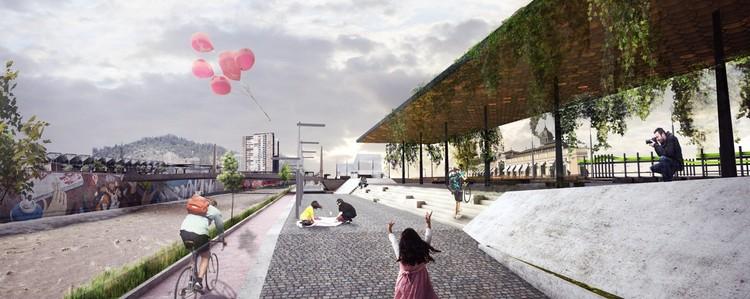 Propuesta SHIFT Arquitectos. Image Cortesía de Municipalidad de Santiago