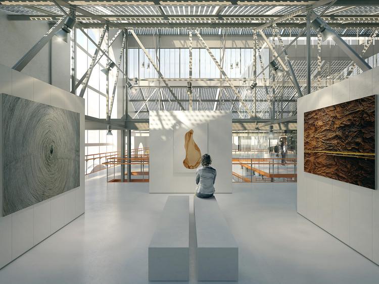 Vista de la galería principal, RPBW, 2015. Imagen cortesía de V-A-C Foundation